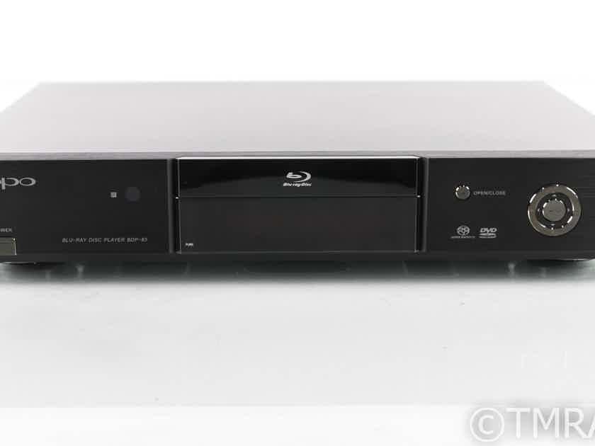 Oppo BDP-83 Universal Blu-Ray Player; BDP83; Remote (19668)