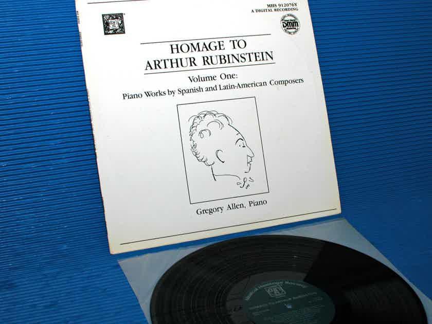 "VARIOUS / Allen   - ""Homage to Artur Rubinstein"" -  Musical Heritage Society DMM"