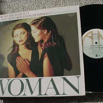 woman lp record in shrink
