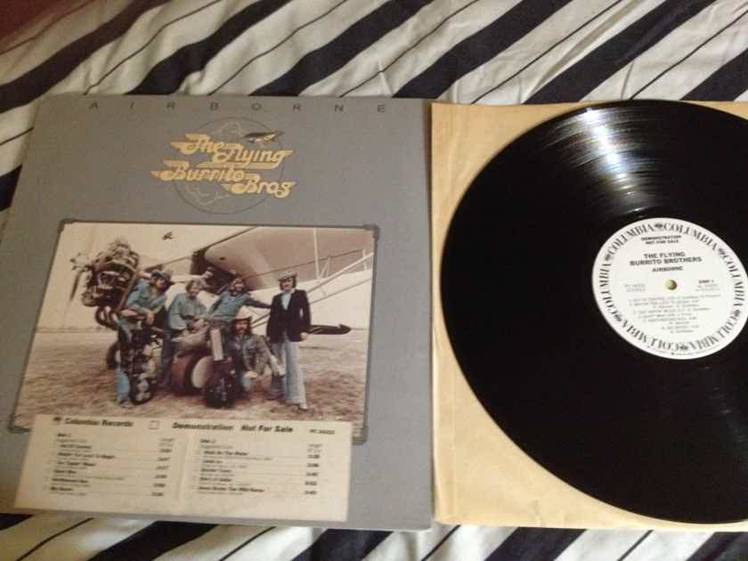 Flying Burrito Bros. -  Airborne White Label Promo  Columbia Records Vinyl LP NM