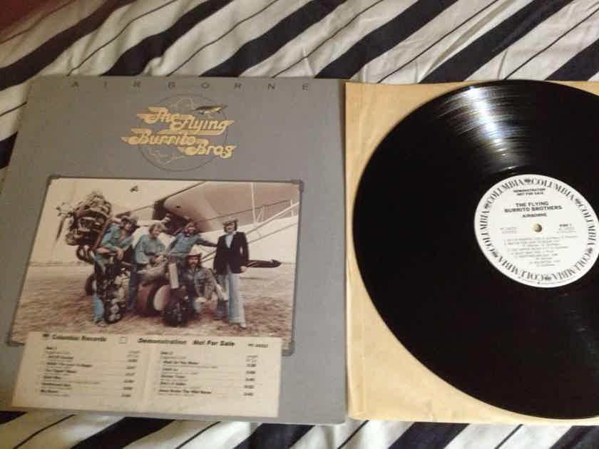 The Flying Burrito Bros. -  Airborne White Label Promo  Columbia Records Vinyl LP NM