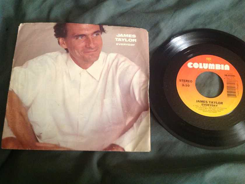 James Taylor Everyday Columbia Records 45 With Picture Sleeve