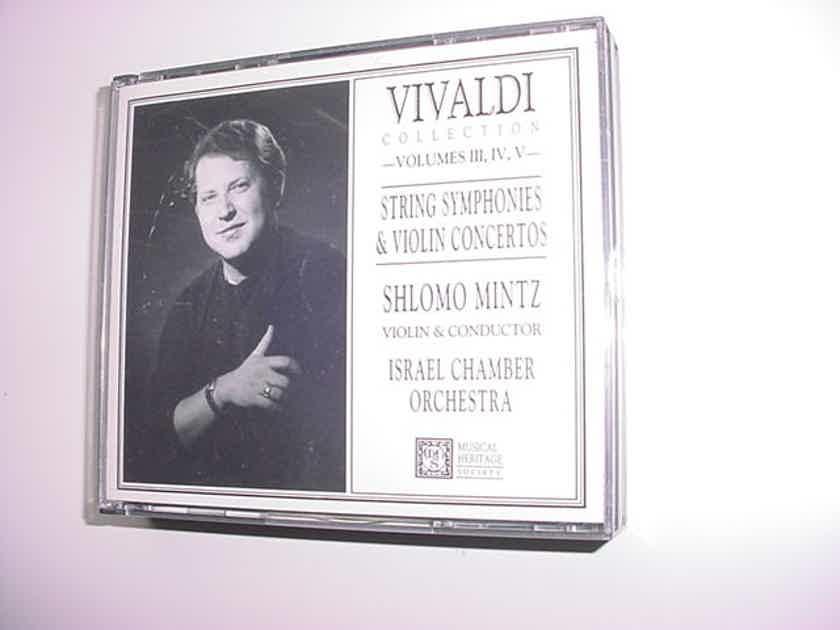 MHS Shlomo Mintz Vivaldi 3 cd set string symphonies & violin concertos vol III IV V