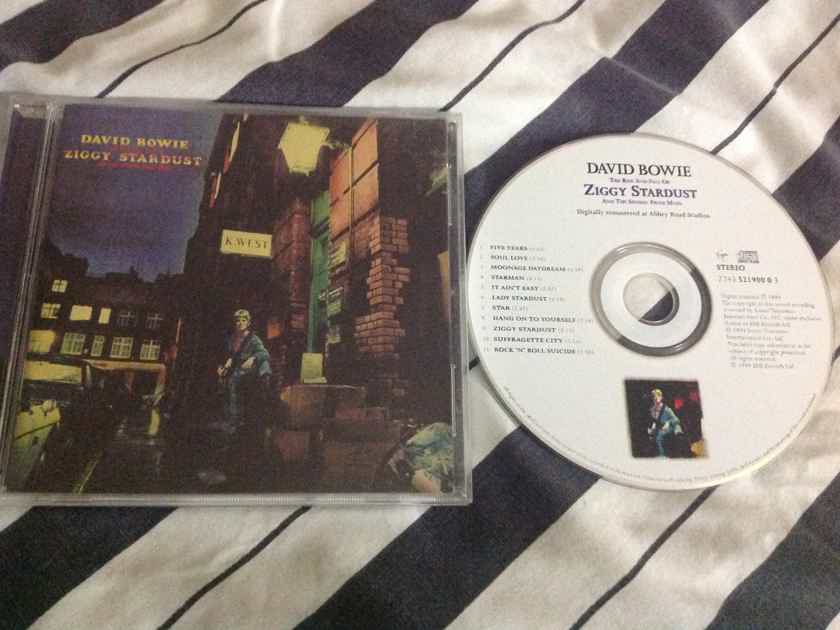 David Bowie - The Rise And Fall Of Ziggy Stardust And The  Spiders From Mars Virgin Records Compact Disc