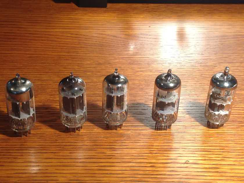 Group of 5 Tubes - Matsushita, HitachI, Zenith, Telefunken  and Amperex Bugle Boy