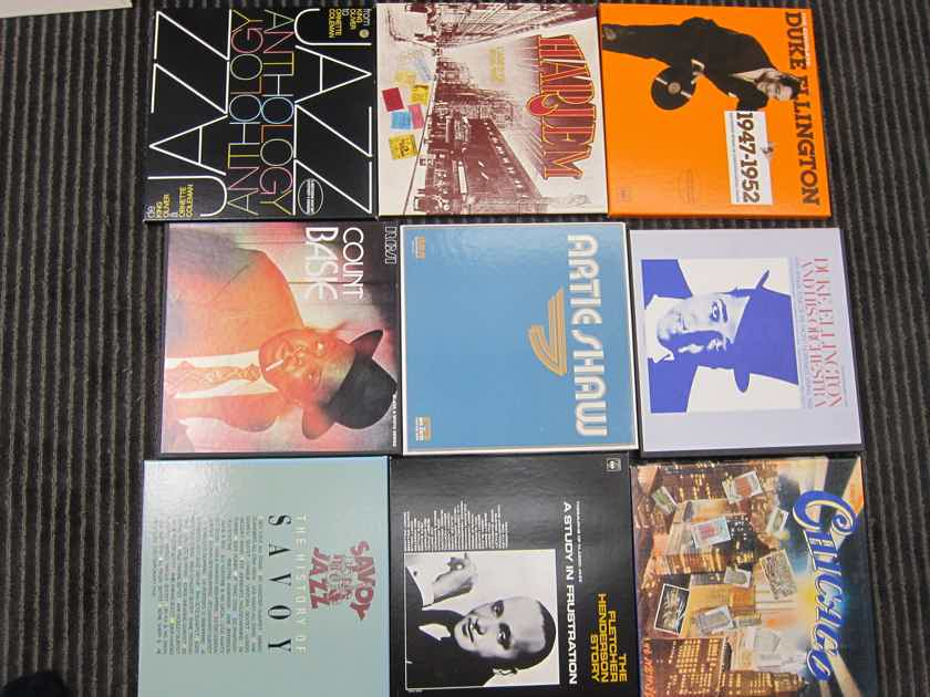 Ellington, Shaw,Basie, Henderson Jazz Box Sets, CBS, RCA, Ex Sound/Condition/Production