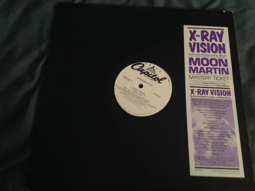Moon Martin  X-Ray Vision Capitol Records Promo 12 Inch Robert Palmer Producer