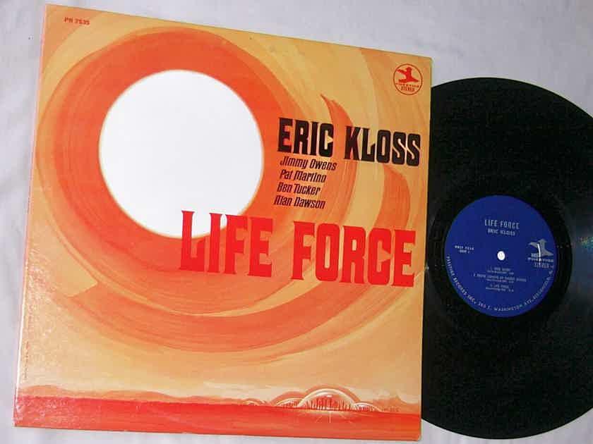 ERIC KLOSS - LIFE FORCE -  - RARE ORIG 1968 JAZZ LP - PRESTIGE PR 7535