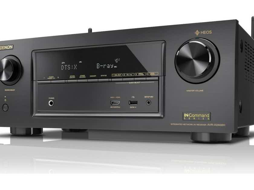 Denon AVR-X2400H 7.2 CH 4K UHD AV Receiver w/Wi-Fi, Atmos, AirPlay2 and HEOS - Authorized Dealer - Full Manufacturer's Warranty