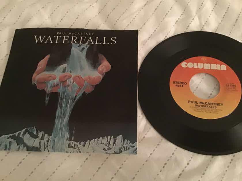 Paul McCartney  Waterfalls 45 With Picture Sleeve Vinyl NM