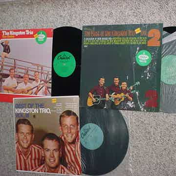 The Kingston Trio lot of 3 lp records in shrink 1980s best of vol 2 & 3 AND Tom Dooley