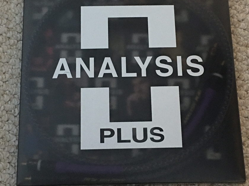 Analysis Plus Solo Crystal Oval 1 meter RCA interconnects