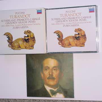 ZUBIN MEHTA PUCCINI Turandot 2 cd box set Sutherland Pavarotti Caballe LONDON
