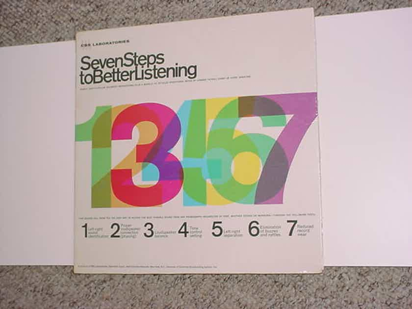 SEALED CBS Laboratories seven steps - TO better listening lp record with booklet STR-101 STEREO MONO
