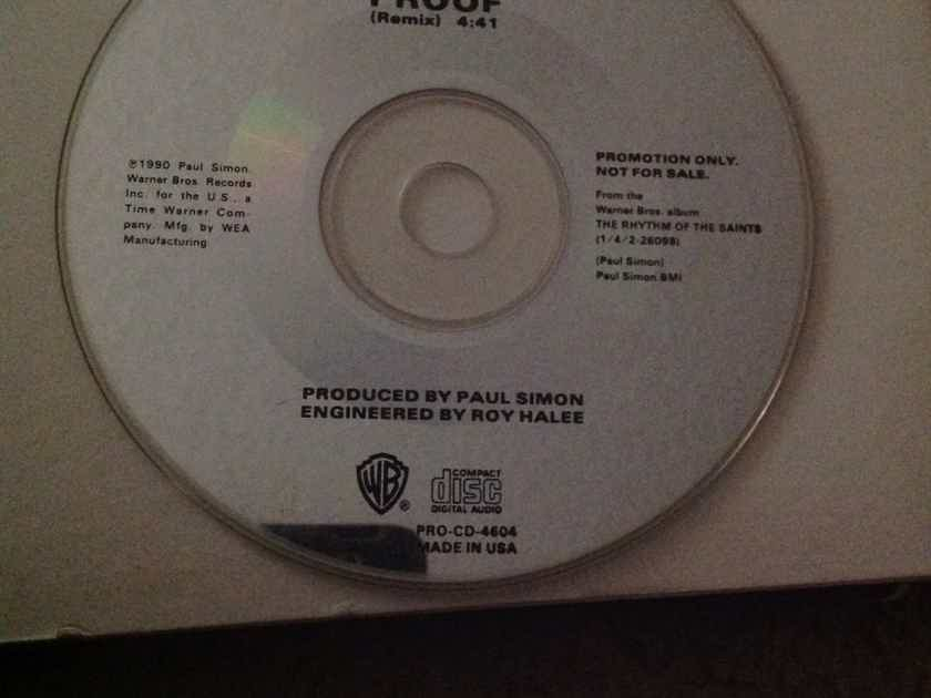 Paul Simon  Proof(Remix) Warner Brothers Records Promo Compact Disc