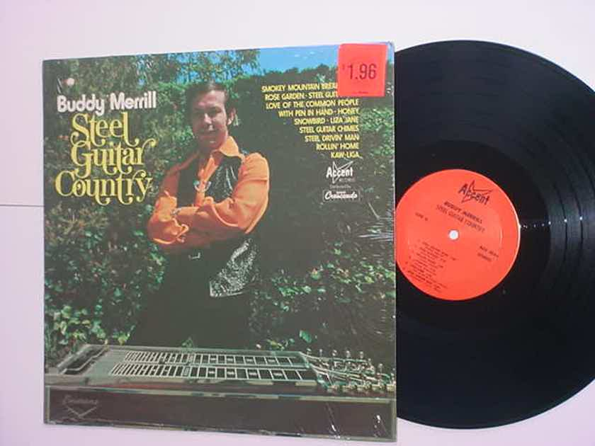 Buddy Merrill steel guitar country lp record in shrink ACCENT CRESENDO ACS 5036