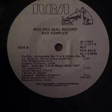 RCA Records Record Bar Seven Inch Promo Sampler