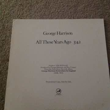 George Harrison - All Those Years Ago Promo 12 Inch Sin...