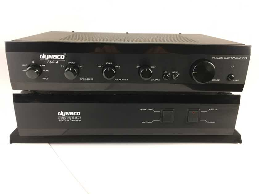 Dynaco PAS-4 Preamp and Stereo 400 Amp.  Perefect Tube/Solid Combo