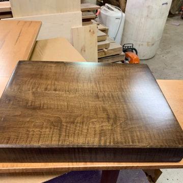 TimberNation Tiger Maple  Platform with Walnut Stain