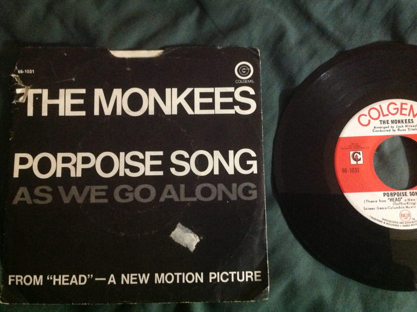 The Monkees - Porpoise Song 45 With Sleeve