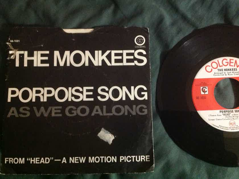 The Monkees - Porpoise Song/As We Go Along 45 Single With Picture Sleeve Colgems Records