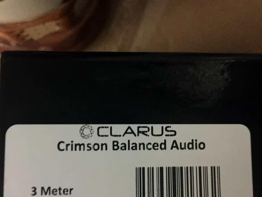 Clarus Crimson XLR Balanced Audio 3-Meter Long, Super Clean Pair