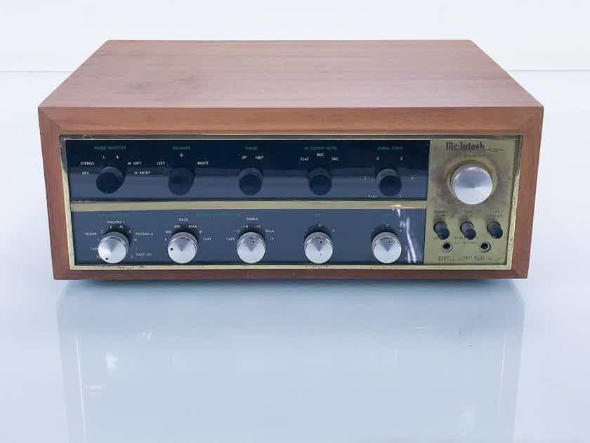 McIntosh C20 Vintage Tube Stereo Preamplifier; C-20 w/ Walnut Cabinet (17908)