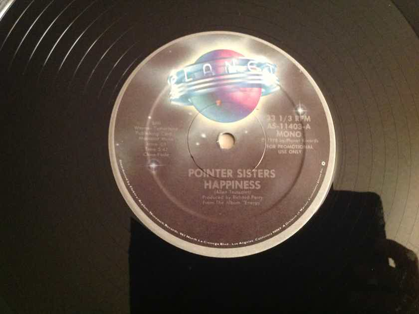 Pointer Sisters  Happiness Planet Records Promo Mono/Stereo 12 Inch