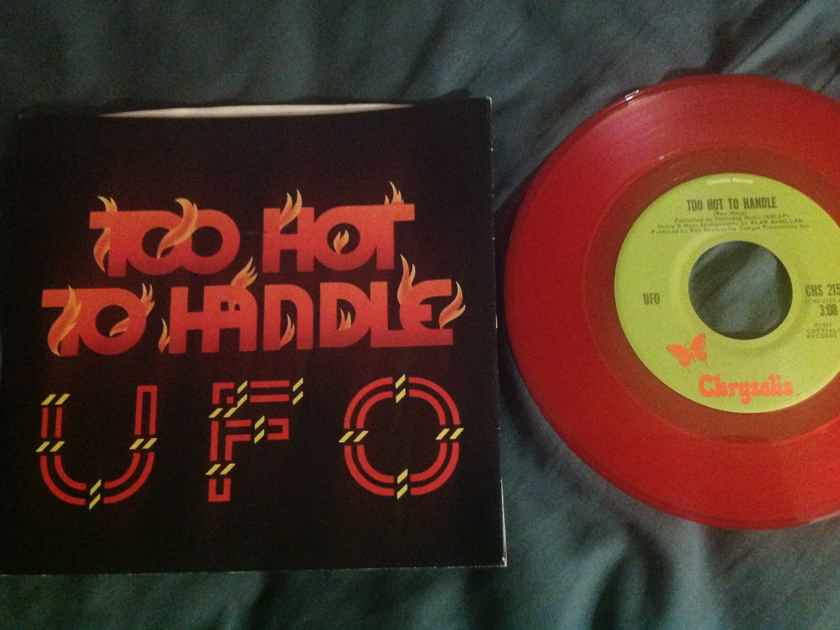 UFO - Too Hot To Handle Red Vinyl 45 Single With Picture  Sleeve Chrysalis Records