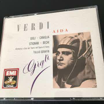 Verdi Tullio Serafin EMI  Aida Gigli Caniglia Stignani ...