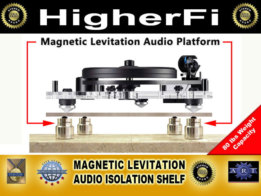 HigherFi Magnetic Levitation Phono Shelf ,Look, Save 50% off, Trades OK!