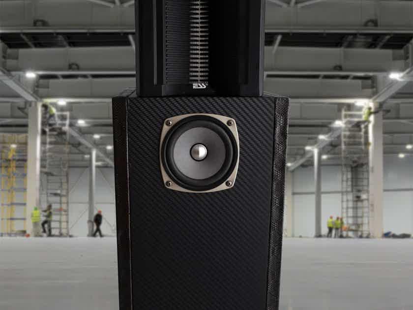Shinjitsu Audio Carbon Compact Floor Horn Speakers (PAIR)