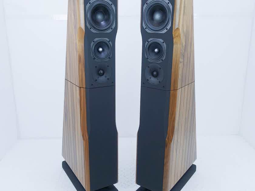 Chario Ursa Major Floorstanding Speakers Walnut Finish (New / Old Stock) (13859)