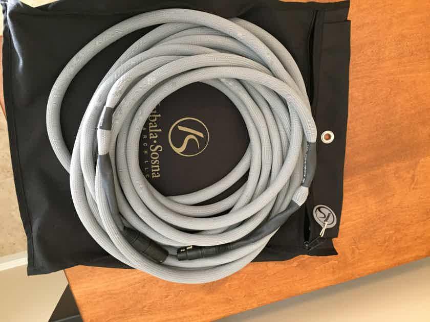 Kubala Sosna Fascination 10m single piece XLR interconnect - mint customer trade-in