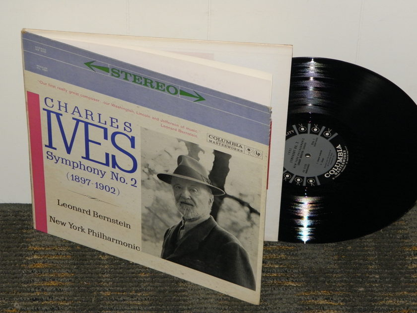 Leonard Bernstein/New York Philharmonic - Charles Ives Symphony No. 2 Columbia MS 6155 6 EYE Hardcover Gatefold w/booklet
