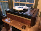 thorens td126 mkIII SME3009 tonearm with custom walnut and maple plinth that i made arm board also made of walnut