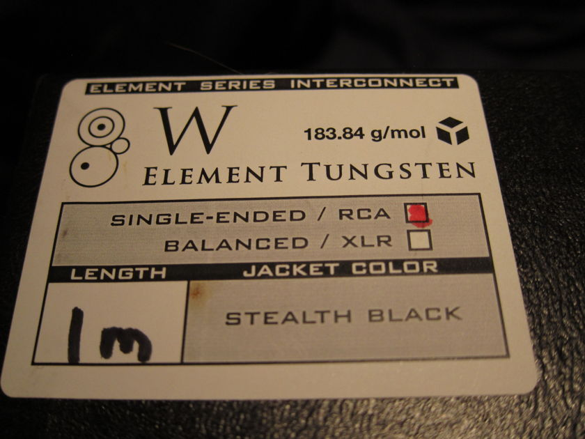 Synergistic Research Tungsten  1-meter RCA