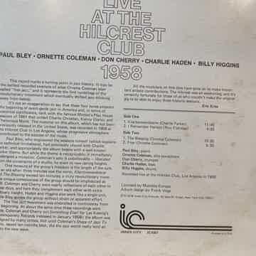 Live at the Hillcrest Club Ornette Coleman Quintet orig...