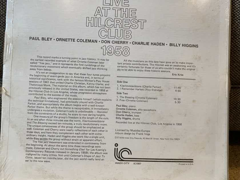 Live at the Hillcrest Club Ornette Coleman Quintet original LP sealed Bley, Cherry, Haden, Higgins
