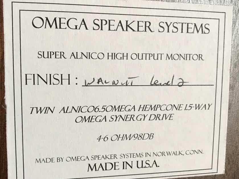 Omega Speaker Systems Super Alnico High Output XRS Level 2 Walnut