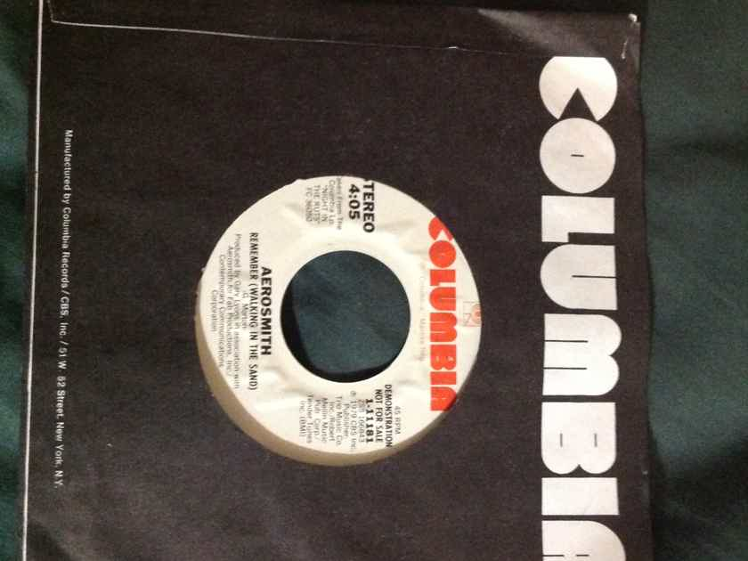 Aerosmith - Remember(Walking In The Sand) Columbia Records Promo Single 45 Vinyl NM