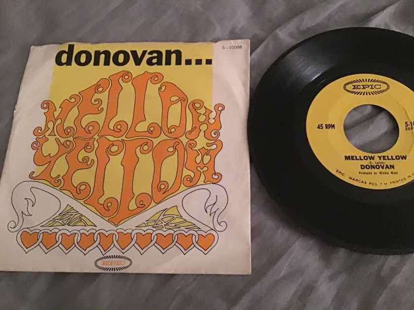 Donovan Mellow Yellow 45 With Picture Sleeve