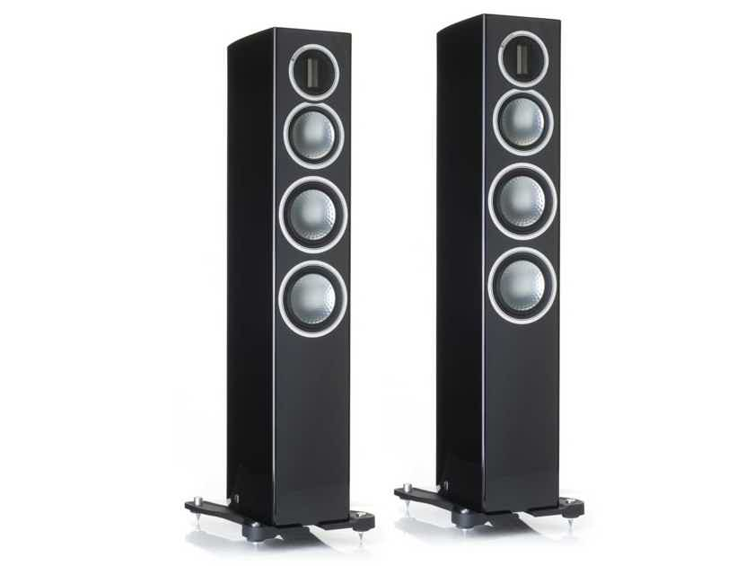 MONITOR AUDIO Gold 300 3-Way Floorstanding Loudspeakers:  (Black); Trade-In; 3 Yr. Warranty; 25% Off; Free Shipping