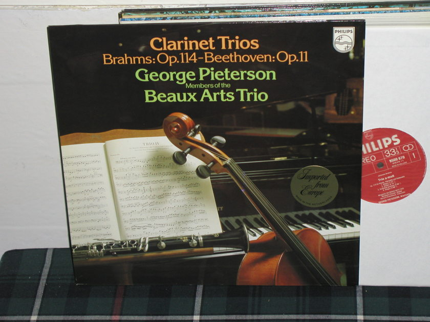 Beaux Arts Trio - Brahms Clarinet Trio Philips Import pressing 9500 670