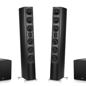 Scansonic MB-6B Ribbon Loudspeakers with two JL Audio E...