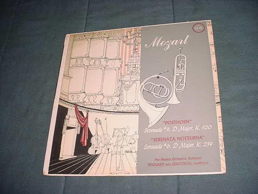 CLASSICAL Mozart  POSTHORN Serenata Notturna serenade #9 #6 D Major lp record VOX