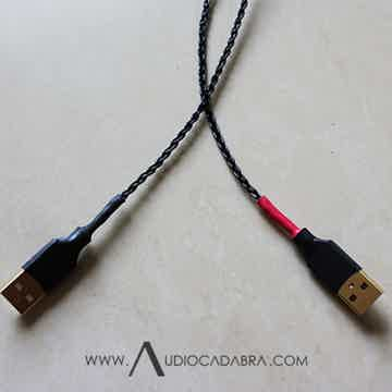 Audiocadabra Optimus3 Handcrafted Solid-Copper Dual-Headed USB Cables
