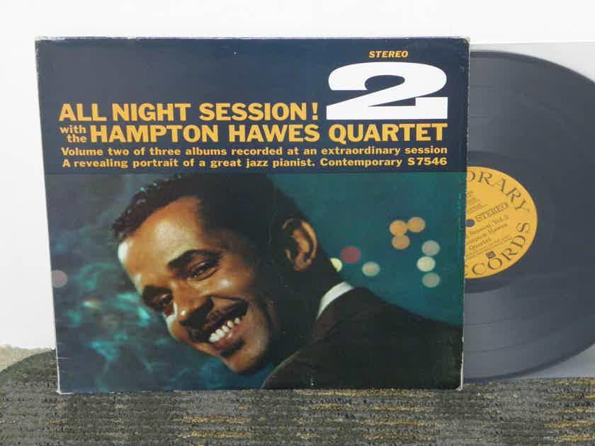 "Hampton Hawes Quartet - ""All Night Session 2"" Contemporary Stereo S7546 Still in Shrink"