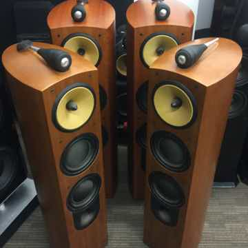 804 & HTM2 Gorgeous Natural Cherry Speakers